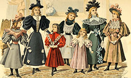 victorian costumes fashion